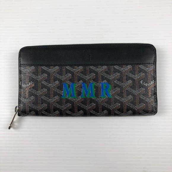 Goyard Paris Matignon Long Zipper Brown Wallet